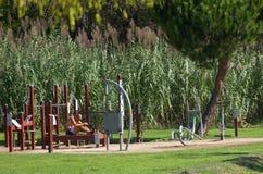 Sporty mlejący na krawędzi parka zdjęcie royalty free