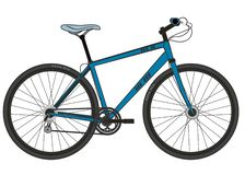 Sporty modern bike in black and blue colors. On a white background vector illustration