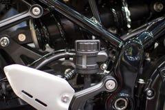Sporty motocyklu silnik, nowy, czysty świecący, obrazy stock