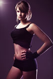 Sporty muscular woman Stock Photo