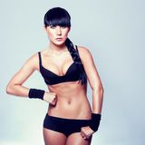 Sporty muscular woman Royalty Free Stock Photography