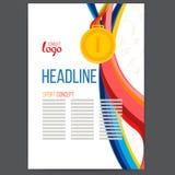 Sporty nagradzają złotego medal przy tłem Obrazy Royalty Free