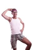 Sporty nerd in glasses Stock Images