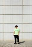 Sporty obsługują w zielonej koszulce Fotografia Stock