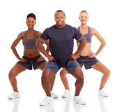 Sporty people exercising Royalty Free Stock Images
