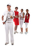 Sporty people Stock Image