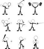 Sporty pictogram cartoon set Royalty Free Stock Photos