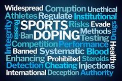 Sporty Podaje doping słowo chmurę obraz royalty free