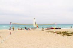 Sporty przy plażą Zdjęcie Royalty Free