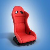 Sporty red automobile armchair 3d render on a gradient backgroun Royalty Free Stock Photos