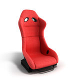 Sporty red automobile armchair 3d render on a white background. Sporty red automobile armchair 3d render on a white Royalty Free Stock Photography