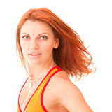 Sporty redhead Royalty Free Stock Image