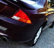 Sporty Sedan... Rear quarter shot of a well polished sedan Royalty Free Stock Images