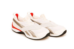 Sporty shoe isolated. On the white background Royalty Free Stock Images