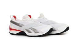 Sporty shoe isolated. On the white background Royalty Free Stock Photography