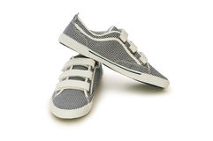 Sporty shoes isolated on the white Stock Photos