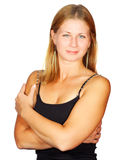 Sporty smiling blond woman Royalty Free Stock Photo