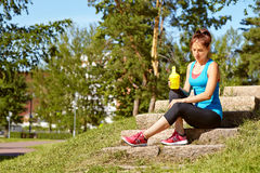 Sporty smiling woman Stock Image