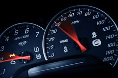Sporty Speedometer Royalty Free Stock Image
