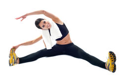 Sporty teenager doing flexibility exercises Royalty Free Stock Images