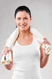 Sporty woman royalty free stock images
