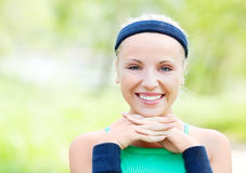Sporty woman royalty free stock photos