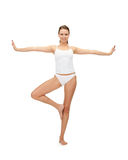 Sporty woman in cotton undrewear Stock Photo