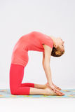 Sporty woman doing stretching exercise Royalty Free Stock Images
