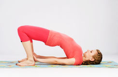 Sporty woman doing stretching exercise Stock Photography