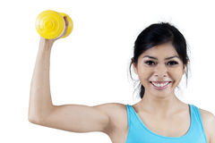 Sporty woman with dumbbell Stock Photography