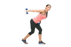 Sporty woman with dumbbells Royalty Free Stock Photography