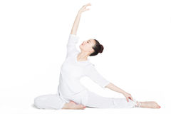 Sporty woman in exercises yoga Stock Image
