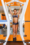 Sporty woman in the gym. Stock Photography