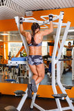 Sporty woman in the gym. Stock Image