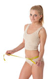 Sporty woman with gymnastic ball Stock Image
