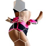 Sporty woman in honeycombs. royalty free stock images