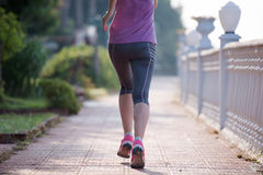 Sporty woman jogging Royalty Free Stock Photo