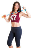 Sporty Woman With Jumping Rope Royalty Free Stock Photos