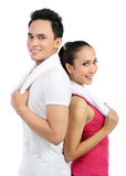 Sporty woman and man Stock Photography