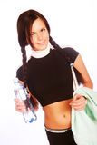 Sporty woman with mineral water Stock Image