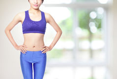 Sporty woman with nice body Royalty Free Stock Images