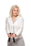 Sporty woman portait Stock Images
