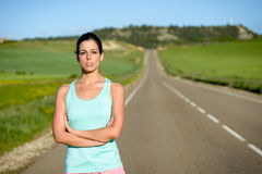 Sporty woman portrait Royalty Free Stock Image