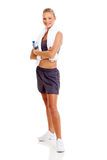 Sporty woman posing Stock Image
