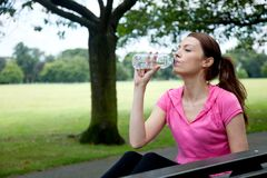 Sporty woman resting Stock Image