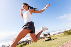 Sporty woman running Royalty Free Stock Photography