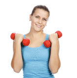 Sporty woman smiling to you Royalty Free Stock Photography