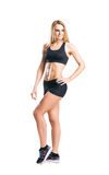 Sporty woman in sportswear  isolated on white Stock Photo