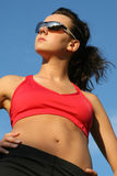Sporty woman standing Royalty Free Stock Photography