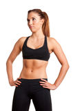Sporty Woman Standing Royalty Free Stock Photo